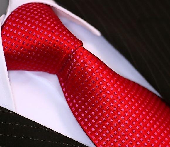 BINDER de LUXE KRAWATTE tie slips corbata cravatte Dassen Krawatten 143 Rot