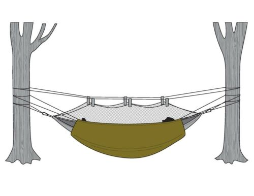 Keep your hammock warm with outer insulation Snugpak Hammock Under Blanket