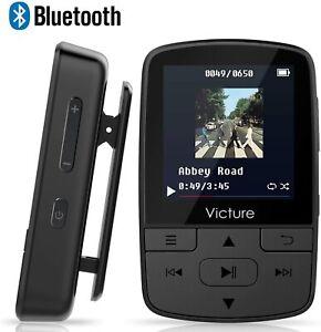 Lecteur MP3 Victure Bluetooth 4.1 8Go Lecteur Baladeur avec Pince Podomètre