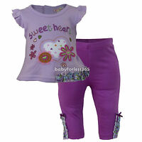 Baby Girls Outfit Clothes 2 Pieces Set Shirt & Legging Size 3 6 9 Months