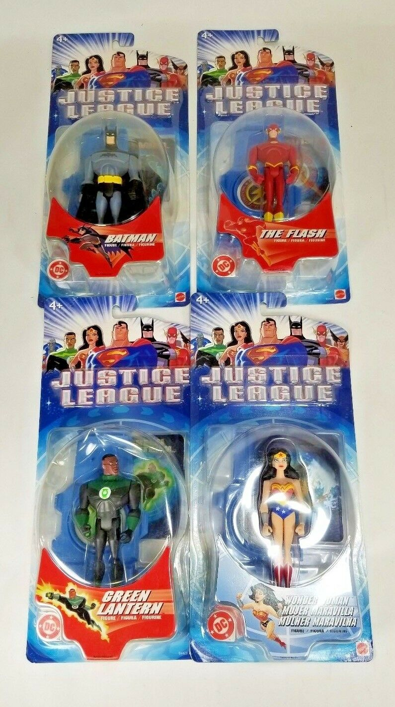 DC Justice League (unlimited) Batman Wonder Woman Flash Green Lantern  NEW