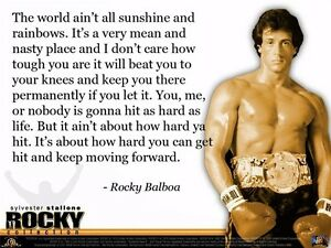 Details About Rocky Balboa Motivational Quotes Art Silk Wall Poster 17 X13 004
