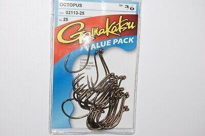 gamakatsu octopus hooks size 3//0  25 per pack 02113-25 value pack