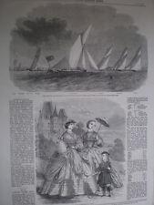 Royal London Yacht Club Match arrotondamento coalhouse PUNTO 1860 Old print