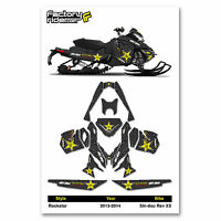 2013-2014 Ski Doo Xs Snowmobile Graphics Rockstar Style By Enjoy Mfg. /120 Track