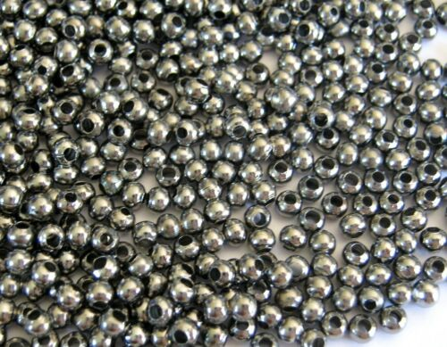 500 METALLPERLEN SPACER Zwischenelemente ca 3mm schwarz #S179