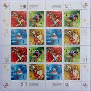 CANADA-STAMP-1801-04-MNH-MINI-SHEET-034-PAN-AMERICAN-GAMES-034