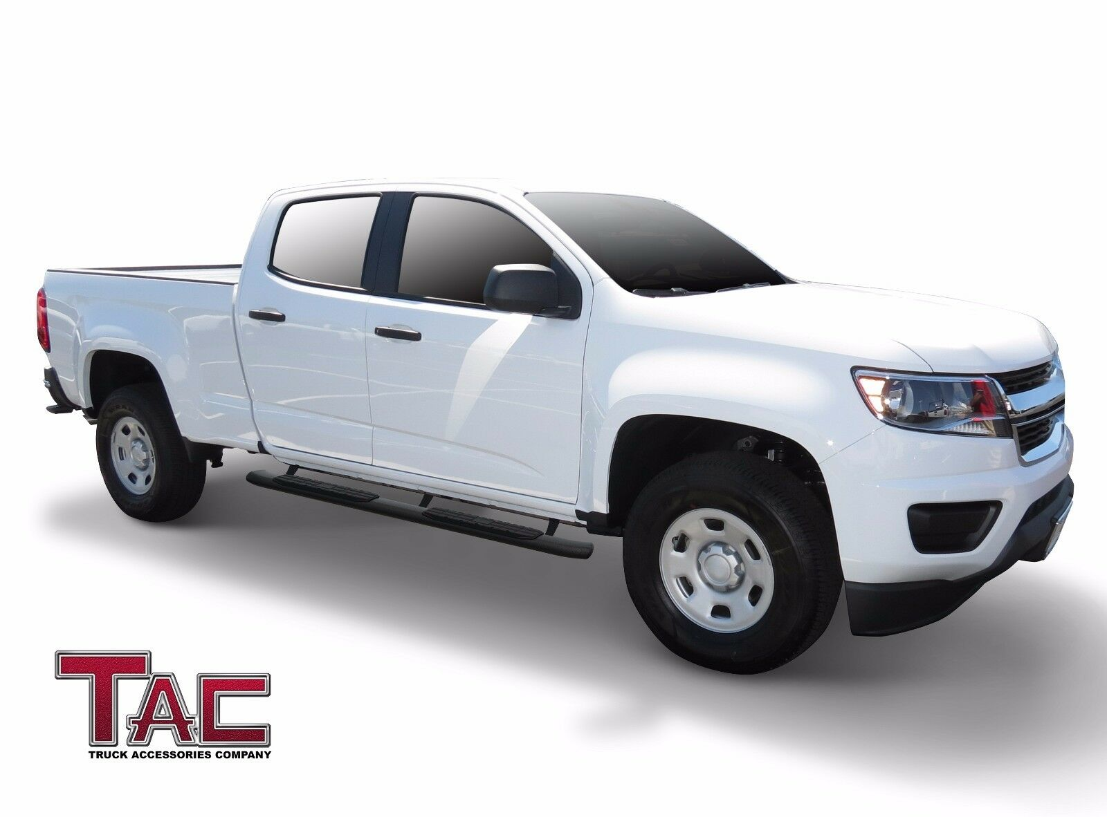 Tac Texture Side Step For 15 18 Chevy Colorado Gmc Canyon Crew Cab 1954 Steps 2015 2018 Pickup Truck 425 Oval Bend Black Nerf Bars Running Boards Powder