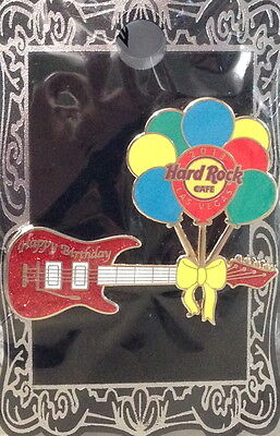 Hard Rock Cafe LAS VEGAS STRIP 2013 Happy Birthday BALLOONS GUITAR PIN HR #70608
