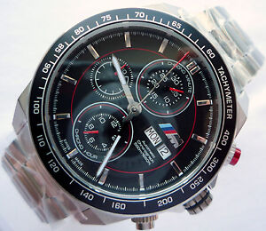 BMW-M-Style-Power-Motorsport-Racing-Car-Accessory-Automatic-Watch-Chronograph