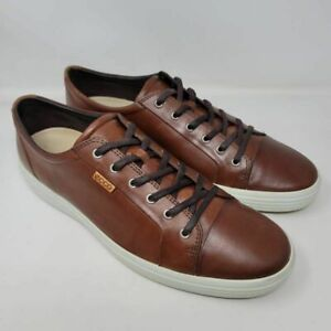 ECCO-Mens-Soft-7-Sneakers-Brown-N43000402195-Leather-Lace-Up-Low-Top-Shoes-16-M
