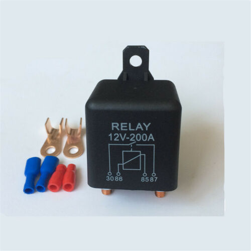 12V 200A High Power Relays+2 Pin Footprint+2 Terminals For Car Starter Switch