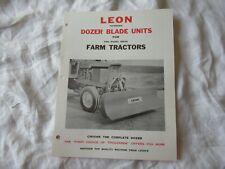 Leon Dozer Blade Units Brochure For Farm Tractors
