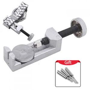 Metal-Watch-Band-Strap-Bracelet-Lien-Pin-Remover-Repair-Tool-Kit-Set-reglable