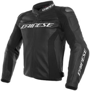 DAINESE-Course-3-sportifs-hommes-motocyclette-Veste-en-cuir-avec-protecteurs