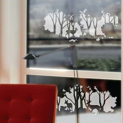 Top Design Love Forest Deer&Tree Wall Sticker Art,Tree Wall Decal Sticker--PD540