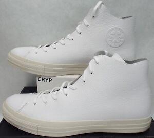 New Mens 11 Converse CTAS Prime Hi White Egret Leather Shoes  135 ... 9b912c4e4