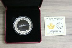 2014-50-Cent-Silver-Plated-Coin-R-M-S-Empress-of-Ireland