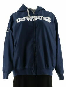 reputable site 3646e 802a0 NFL Dallas Team Color Reversible Hoodie Jacket Cowboys M A295843