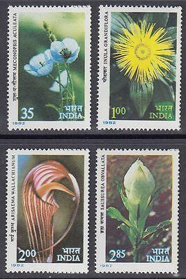 Indien Asien sq5647 Indien India 1982 ** Mi.908/11 Blumen Flowers Flora Himalaya Pflanzen