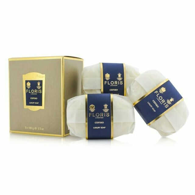 Floris Cefiro Luxury Soap 3x100g Mens Cologne