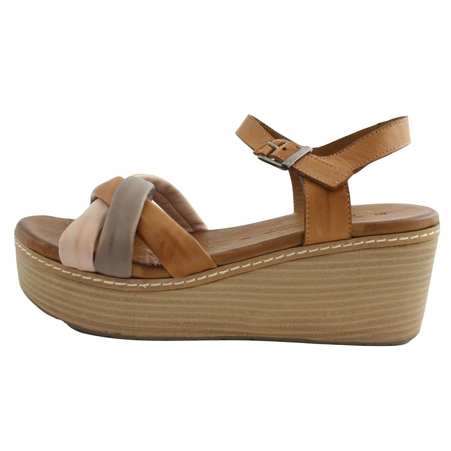 Shoes Summer Sandals Carmela Woman Brown Leather Wedge Comfortable
