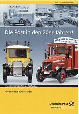 Prospekt Deutsche Post Modellauto Zündapp Bella Steib Kaelble KMO Chausson Goggo