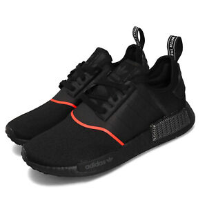 Adidas Originals Nmd R1 Boost Black Solar Red Men Casual Lifestyle