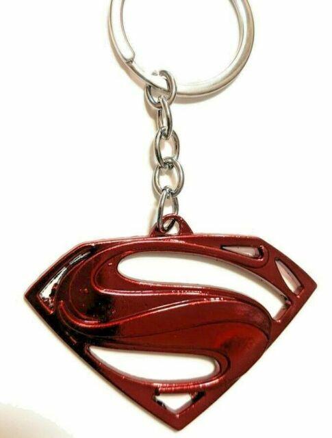 DC Comics SUPERMAN VS BATMAN S Shield Logo Movie Key chain Red color cosplay