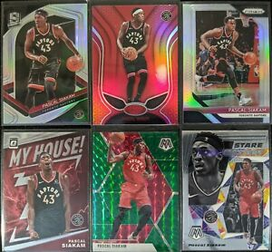 Lot-of-6-Pascal-Siakam-Including-Spectra-silver-Prizm-silver-amp-other-inserts
