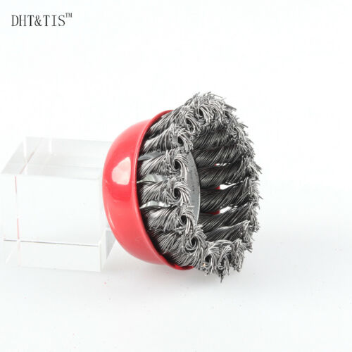 70mm Knot Wire Cup Brush Steel Wire Wheel with Nut M14*2 Heavy-duty Derusting