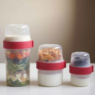 Lock/&Lock Breakfast Oatmeal Two-way Cup Cereal On The Go Cups Milk Snack Cup