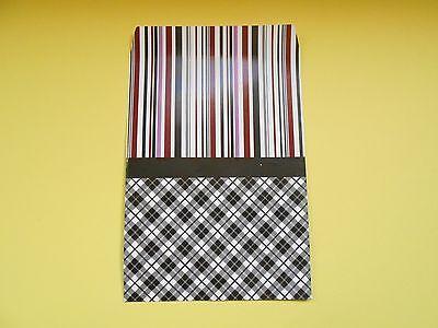 lot 50 pochettes sachets fantaisie papier 29x21 vichy emballage cadeaux,bijoux