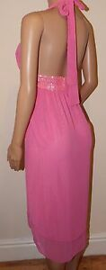 VICKY-MARTIN-baby-pink-sequin-cleavage-knee-length-cocktail-dress-BNWT-8-10-12