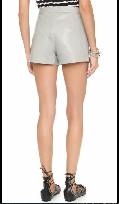 CUPCAKES and CASHMERE LAMBSKIN Greystone Leather Shorts  cashmere Sz 8  NWT
