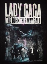 Lady Gaga Large T Shirt The Born This Way Ball Tour Concert Black Free Shipping