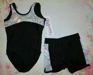 NEW-Girls-Size-3-4-XS-XXS-Toddler-Leotard-Shorts-Set-Dance-Gymnastics-3-Choices