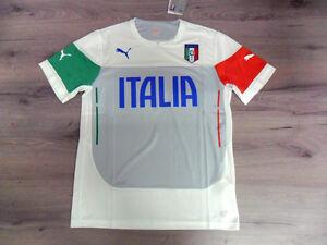 Fw14 Puma Italia Xxl Wh Maglia Maglietta Allenamento Shirt Jersey Wcup '14 Italy Excellente Qualité