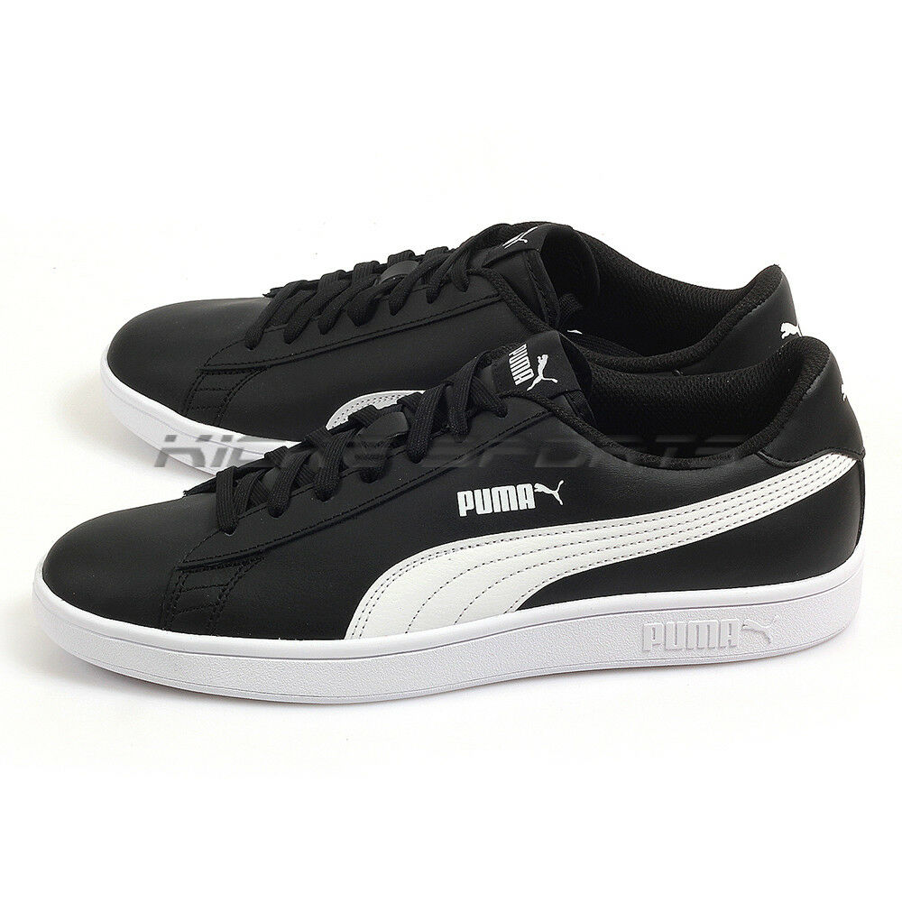 Puma Smash V2 L Noir-Blanc Leather Sportstyle Classic Casual Chaussures 365215 04