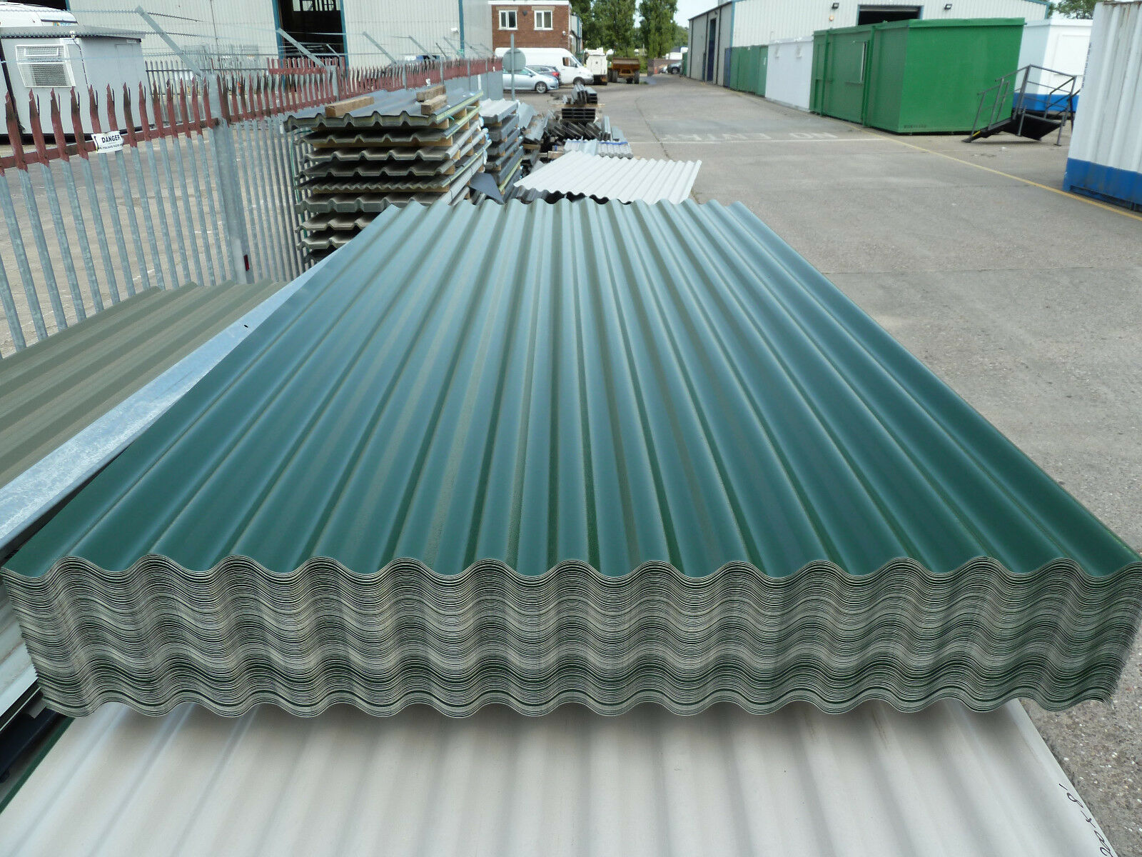 Corrugated Roofing Sheets Juniper Green Pvc Coated Steel