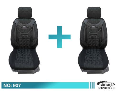 Skoda Rapid MAß Schonbezüge Sitzbezug Auto Sitzbezüge Fahrer /& Beifahrer 907