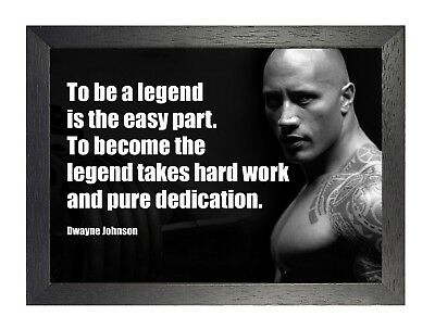 Dwayne Johnson 2 The Rock American Actor Poster Wrestler Motivation Work Train