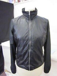 m Femme à Belstaff Longues et Zip Biker Noir Taille Manteau Manches S fSvxw7qSd