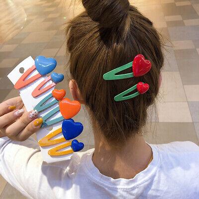 2Pc Acrylic Acetate Geometric Hair Clip Hairpins Barrettes Cute Hair Accessories