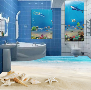 3D Sky Beach Shells 77 Floor WallPaper Murals Wall Print Decal AJ WALLPAPER US