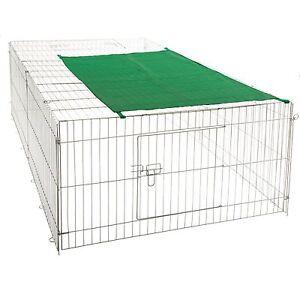freilaufgehege xxl hasen auslauf freigehege kaninchen nager sonnenschutz ebay. Black Bedroom Furniture Sets. Home Design Ideas