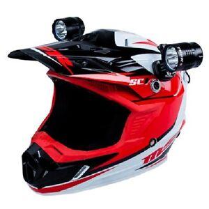 Bike Helmet Light >> Tusk Led Helmet Light Kit 2 Lights 4 Batteries Motorcycle Dirt Bike