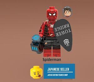 New Minifigure Rare  Lego MOC Batman Black Coat with Gun Machine DC Comic