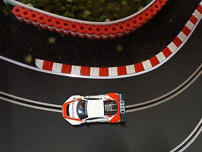 Ras Flexcurbs Rot-weiss - 60 Cm Randstreifen Für Autorennbahnen 1:32-1:24 - Neu Online Shop