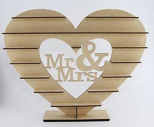 "Unique ""Mr & Mrs"" Stand for  Ferrero Rocher Heart Tree Wedding Display"